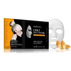 Double Dare OMG! Duo Mask - Золото Therapy Комплекс двухкомпонентный из маски и патчей «Смягчение и восстановление»