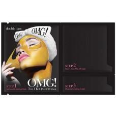 Double Dare OMG! 3IN1 Kit Peel Off Mask 5bundle Трехкомпонентный комплекс масок для восстановления кожи лица