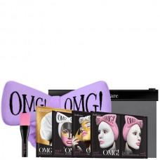 Double Dare OMG! Premium Package Black (4 Mask, 1 Hair Band, 1 Brush) Набор из 4 масок, кисти и сиреневого банта